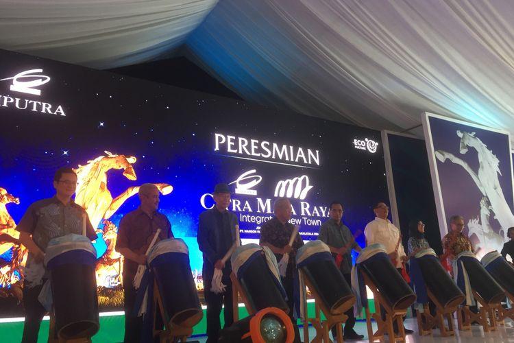 Peresmian proyek Citra Maja Raya di Lebak, Banten, Sabtu (18/11/2017).