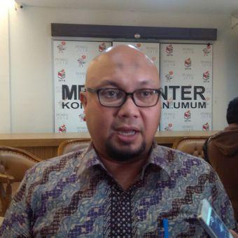 Komisioner Komisi Pemilihan Umum RI (KPU) Ilham Saputra di Jakarta, Rabu (31/1/2018).