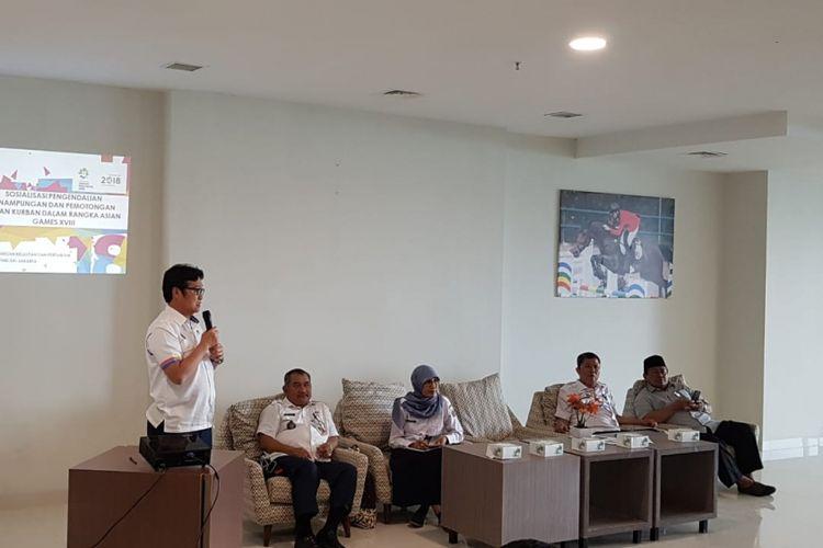 Sosialisasi Dinas KPKP soal larangan pemotongan kurban jelang Asian Games, Rabu (11/7/2018)