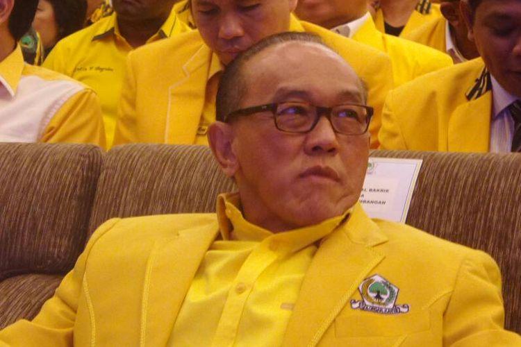 Ketua Dewan Pembina Partai Golkar Aburizal Bakrie pada acara Rapimnas Golkar di Balikpapan, Kalimantan Timue, Senin (21/5/1017).
