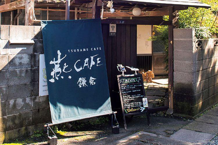 Tsubame CAFÉ di Jepang ini merupakan kafe yang bangunannya menggunakan rumah tua berusia lebih dari 80 tahun.