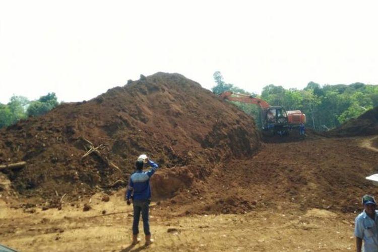 Salah satu lokasi pertambangan yang dilakukan PT Laman Mining yang digerebek oleh Gakkum KLHK di Kabupaten Ketapang (20/8/2018)