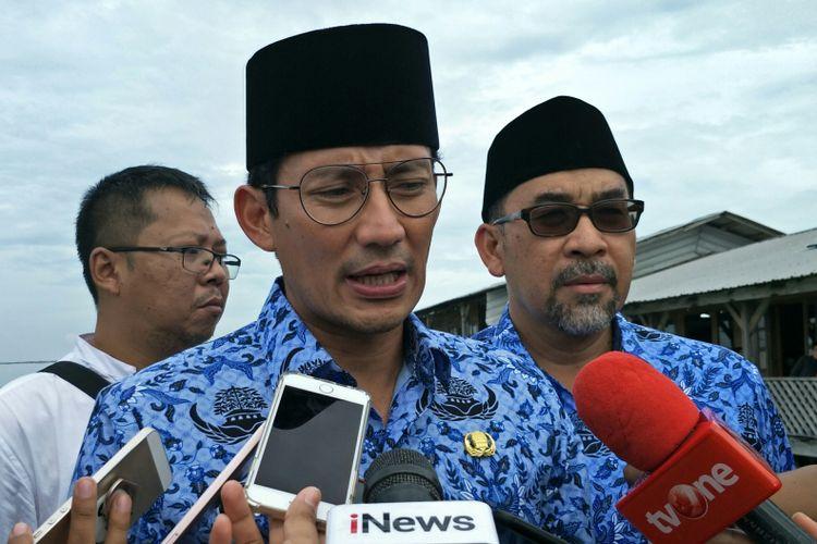 Wakil Gubernur DKI Jakarta Sandiaga Uno di Pulau Pramuka, Kepulauan Seribu, Jumat (22/12/2017).