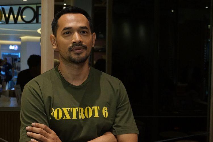 Aktor Oka Antara saat ditemui dalam jumpa pers Idea Fest 2018 di Pacific Place, SCBD, Senayan, Jakarta Selatan, Selasa (9/10/2018).
