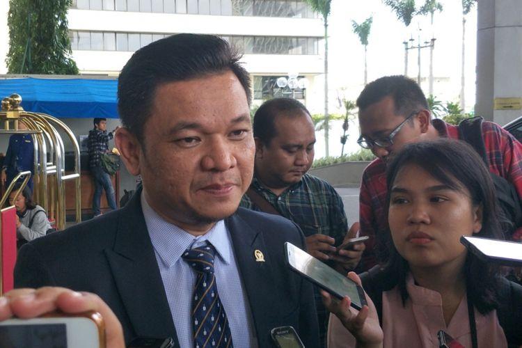 Ketua DPP Partai Golkar Ace Hasan Syadzily saat ditemui di Hotel Sari Pan Pasific, Jakarta Pusat, Rabu (7/3/2018).