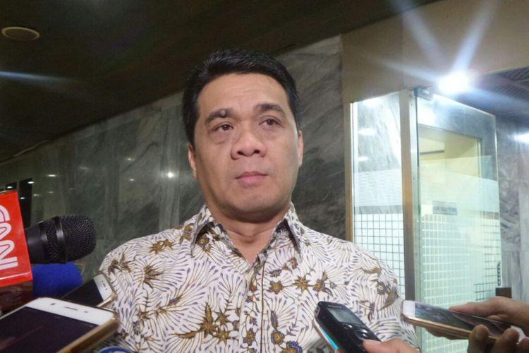 Wakil Ketua Komisi II DPR Ahmad Riza Patria di Kompleks Parlemen, Senayan, Jakarta, Selasa (22/8/2017)