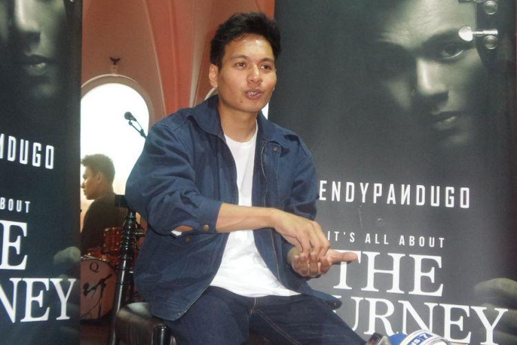 Rendy Pandugo merilis album The Journey di The Pallas, SCBD, Jakarta Selatan, Rabu (30/8/2017) sore.