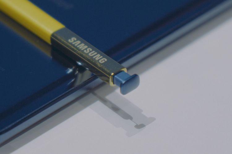 S Pen baru dengan Bluetooth pada Galaxy Note 9.
