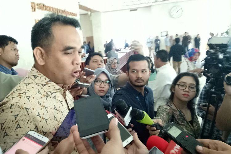 Sekjen Gerindra Ahmad Muzani di Kompleks Parlemen, Senayan, Jakarta, Rabu (13/9/2017)