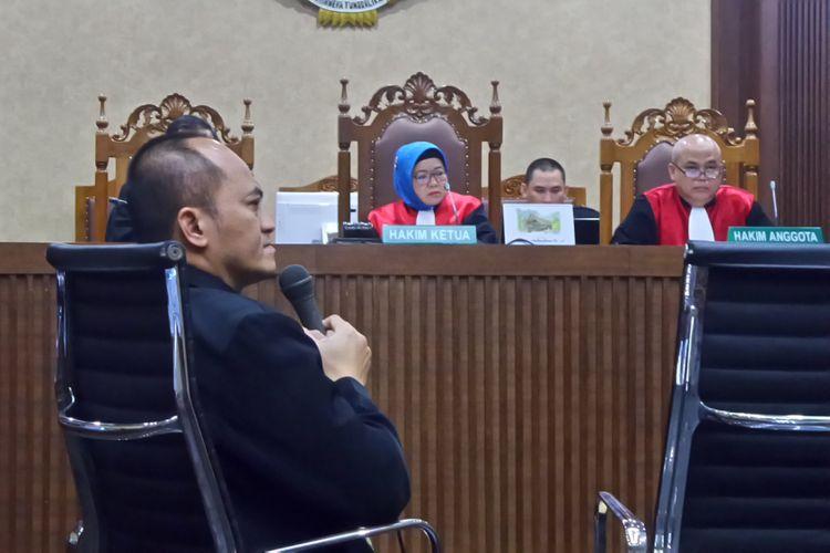 Auditor BPK Andi Bonanganom bersaksi di Pengadilan Tipikor Jakarta, Kamis (14/9/2017).