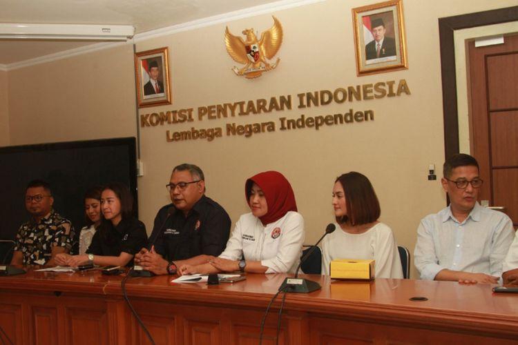 Jumpa pers Anugerah KPI 2017 di Gedung KPI Pusat, Jakarta Pusat, Jumat (20/10/2017).