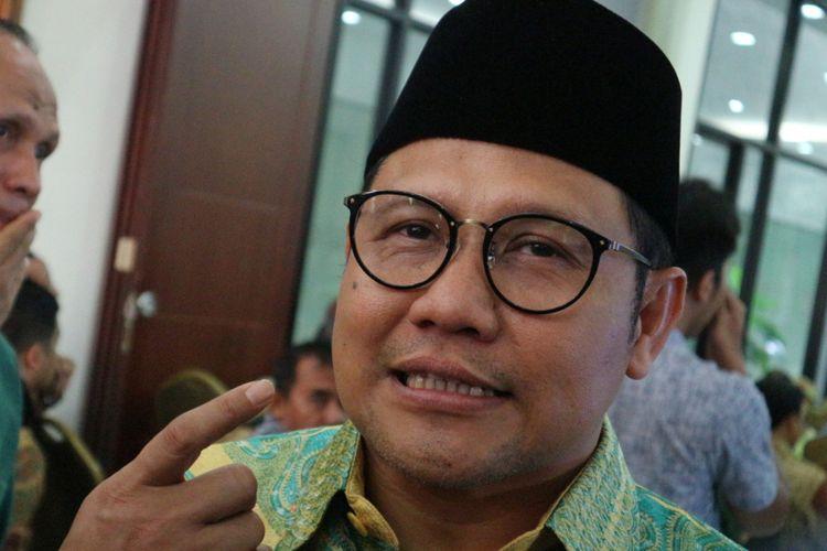 Ketua Umum Partai Kebangkitan Bangsa (PKB) Muhaimin Iskandar saat ditemui di kantor PKB, Jalan Raden Saleh, Jakarta Pusat, Jumat (3/11/2017).(KOMPAS.com/ MOH NADLIR)
