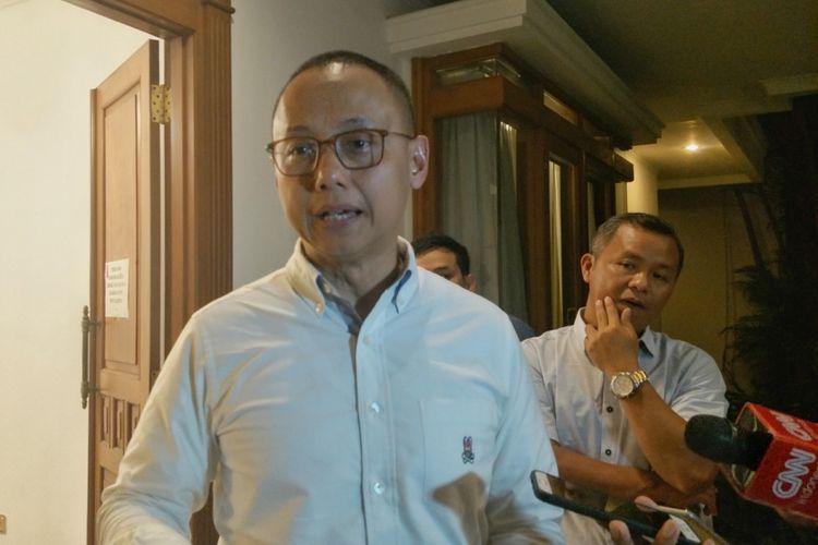 Sekjen Partai Amanat Nasiona (PAN) Eddy Soeparno saat ditemui di Rumah Pemenangan PAN, Jalan Daksa, Jakarta Selatan, Senin (10/9/2018).