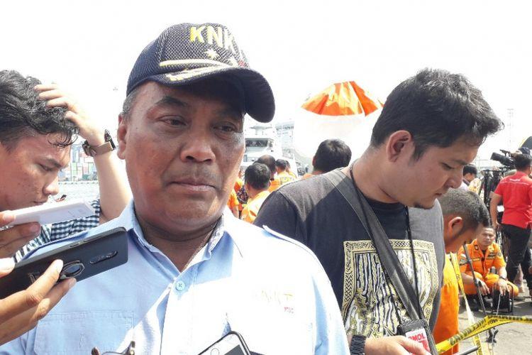 Ketua KNKT Soerjanto Tjahjono di Dermaga JICT 2 Pelabuhan Tanjung Priok, Sabtu (10/11/2018).