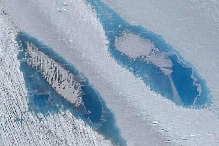 Danau supra-glasial memberi petunjuk bahwa bagian timur Antartika pun terdampak perubahan iklim.