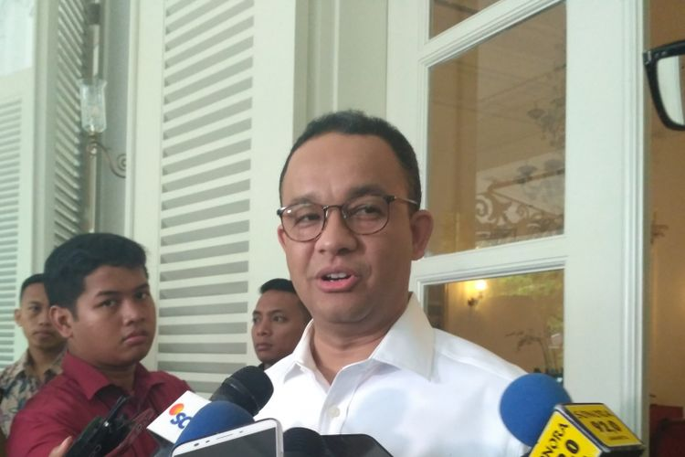 Gubernur DKI Jakarta Anies Baswedan di Balai Kota DKI Jakarta, Jalan Medan Merdeka Selatan, Selasa (7/11/2017).