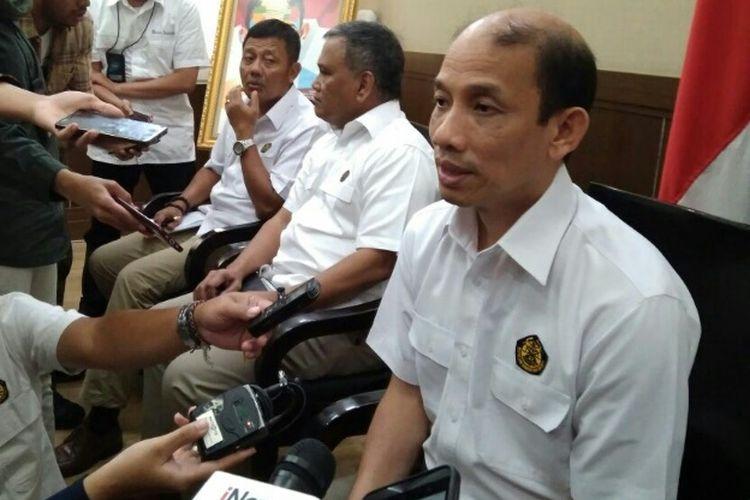 Wamen ESDM Archandra Tahar di Ruang Damar Kementerian ESDM Jakarta, Senin (9/4/2018).