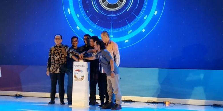 Peresmian website literasinusantara.com dalam ajang GRCC 2018 (28/9/2018).