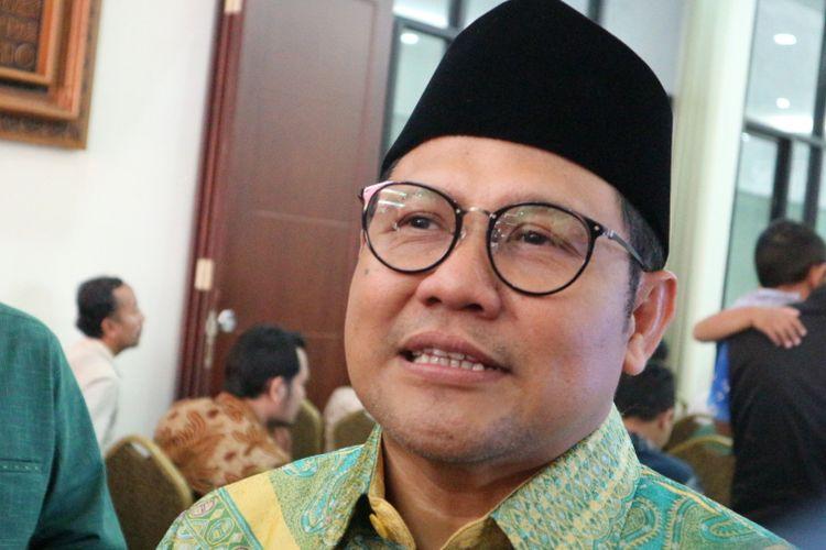 Ketua Umum Partai Kebangkitan Bangsa (PKB) Muhaimin Iskandar saat ditemui di kantor PKB, Jalan Raden Saleh, Jakarta Pusat, Jumat (3/11/2017).