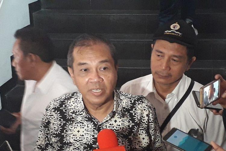 Kuasa hukum Mayjen (Purn) Kivlan Zen, Djuju Purwantoro, di Mapolda Metro Jaya, Kamis (30/5/2019).