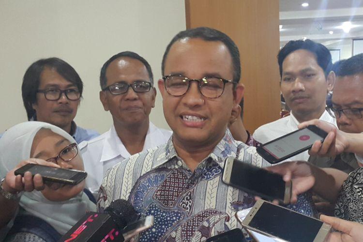 Gubernur terpilih DKI Jakarta Anies Baswedan di Gedung DPRD DKI Jakarta, Jalan Kebon Sirih, Selasa (10/10/2017).