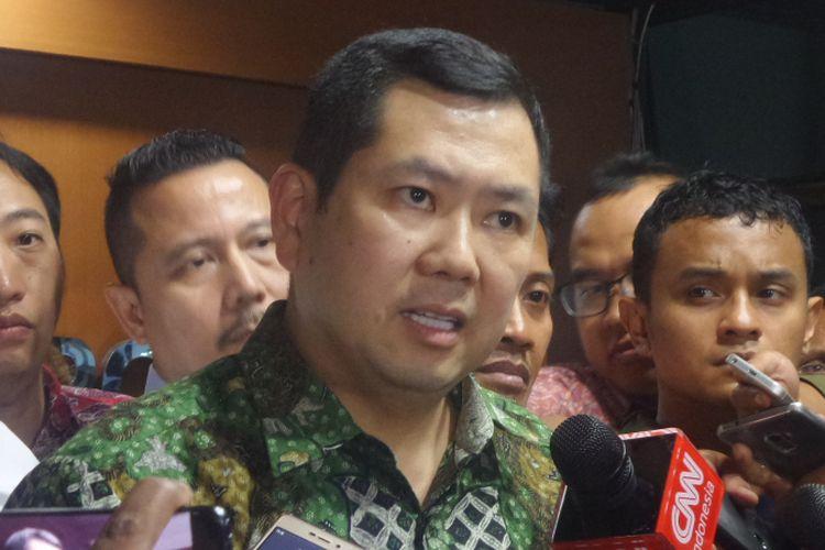 CEO MNC Group Hary Tanoesoedibjo (Hary Tanoe) usai diperiksa penyidik di kantor Bareskrim Polri, Jakarta, Jumat (7/7/2017).