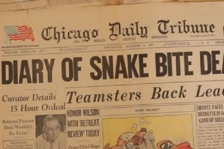 Kematian pakar ular yang mendokumentasikan kematiannya sendiri