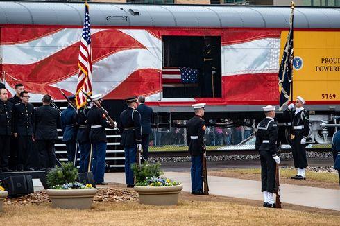 Jenazah George HW Bush Dibawa Pakai Kereta Pemakaman Khusus