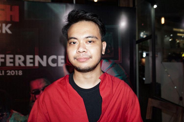 Penyanyi Reza SM*SH saat ditemui di Epicentrum, Kuningan, Jakarta Selatan, Rabu (11/7/2018).
