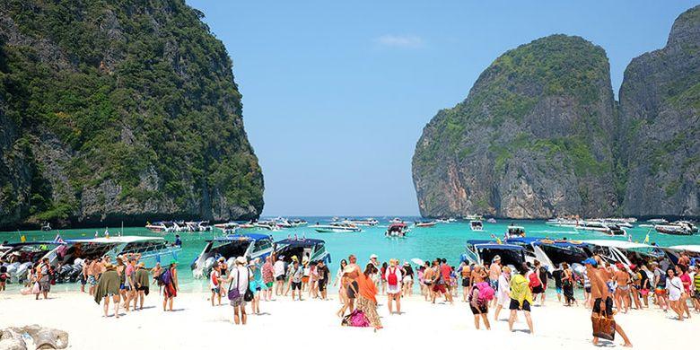Maya Bay di Krabi, Thailand.
