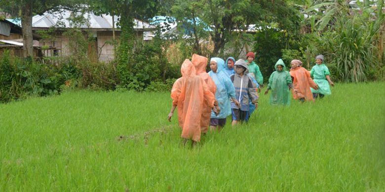 Suasana pedesaan di Kecamatan Elar, Kabupaten Manggarai Timur, Flores, NTT, Senin (29/1/2018).