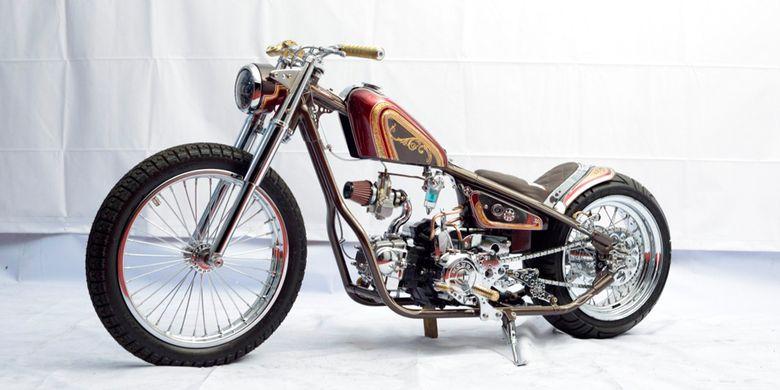 Honda Supra Sundal Bolong Chopper