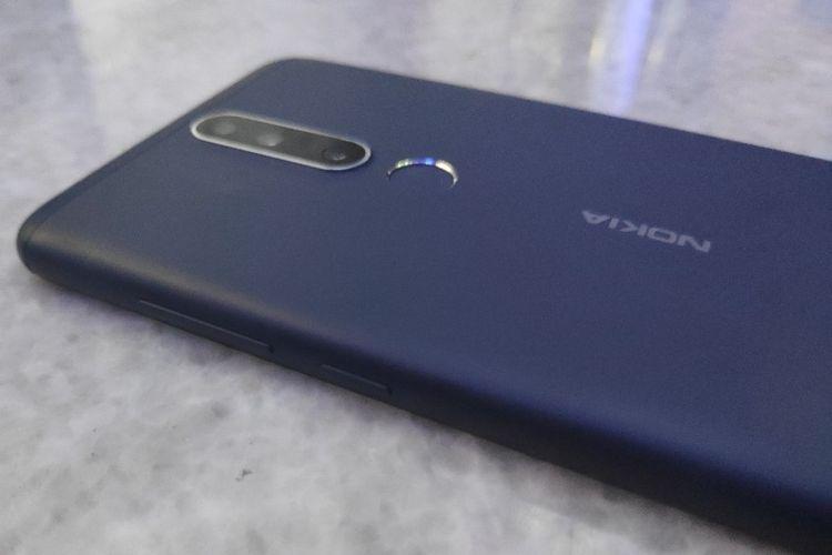 Ilustrasi Nokia 3.1 Plus bagian belakang