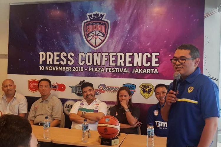 Konferensi pers pergelaran Srikandi Cup 2018-2019 di Jakarta (10/11/2018). Srikandi Cup memerlukan dukungan banyak sponsor.