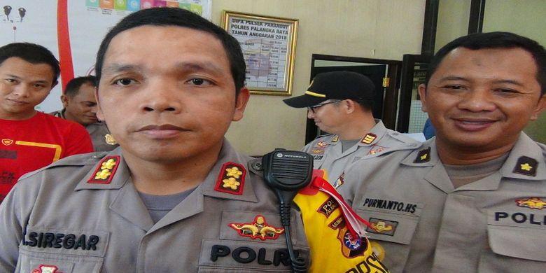 Kapolres Palangkaraya saat memberikan keterangan terkait penangkapan kuli tukang sayur sebagai pengedar obat terlarang
