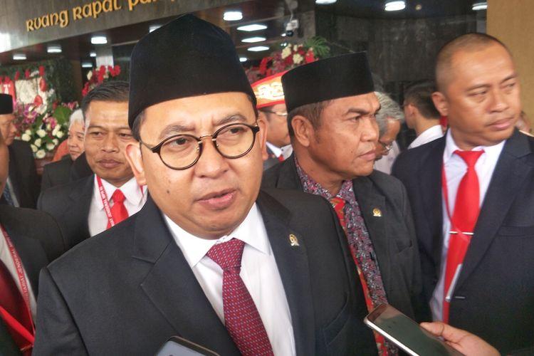 Wakil Ketua DPR Fadli Zon di Kompleks Parlemen, Senayan, Jakarta, Jumat (16/8/2019).