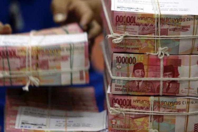 Ilustrasi uang kertas Rp 100.000