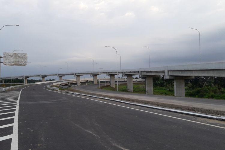 Kondisi Seksi III Tol Medan-Kualanamu-Tebing Tinggi.