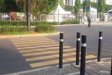 Begini Kondisi Zebra Cross yang Terhalang Tanaman di GBK