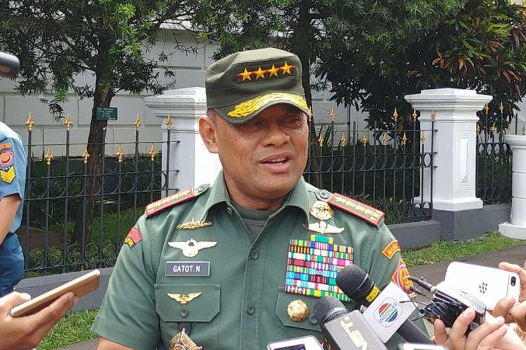 Jenderal Gatot Nurmantyo saat masih menjabat Panglima TNI, ditemui di Istana Bogor, Selasa (5/12/2017).