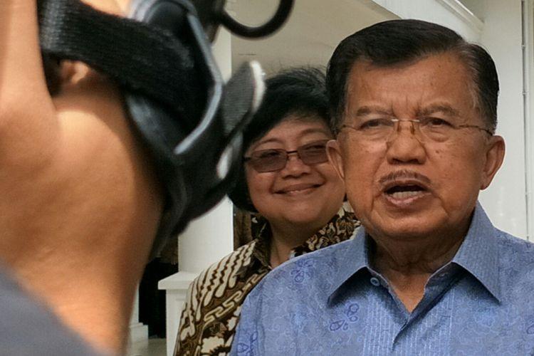 Wakil Presiden RI Jusuf Kalla ketika ditemui di Istana Wakil Presiden, Jakarta, Senin (19/12/2017).