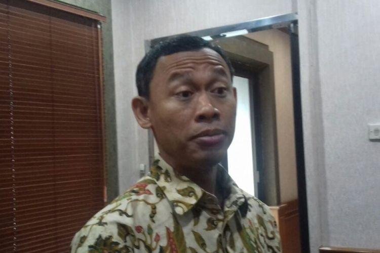Komisioner Komisi Pemilihan Umum RI (KPU) Pramono Ubaid Tanthowi di Jakarta, Jumat (12/1/2018). KPU menyodorkan sejumlah opsi ke DPR menindaklanjuti putusan Mahkamah Konstitusi terkait uji materi sejumlah pasal dalam UU Pemilu.