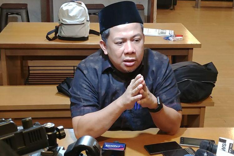 Wakil Ketua DPR Fahri Hamzah di Kompleks Parlemen, Senayan, Jakarta, Jumat (26/1/2018).