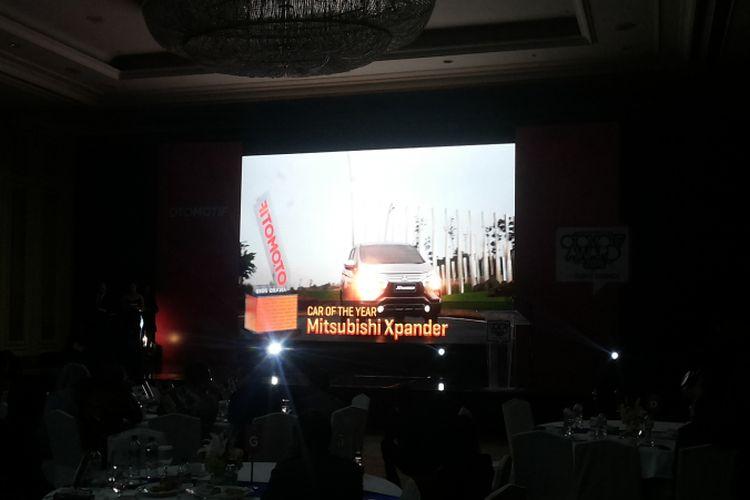 Mitsubishi Xpander meraih penghargaan car of the year di ajang Otomotif Award 2018 yang diselenggarakan di Jakarta, Rabu (28/3/2018).