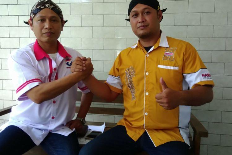 Andreas Gatot Wibowo (Kiri Baju Putih) Chandra Febri Anggaramanis (Baju Kuning) Kakak Beradik Maju Pemilu Legislatif 2019 Berbeda Partai