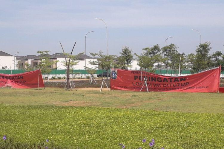 Kondisi Pulau D reklamasi setelah beredar kabar Pemprov DKI Jakarta akan mencabut segel bangunan di pulau terseb