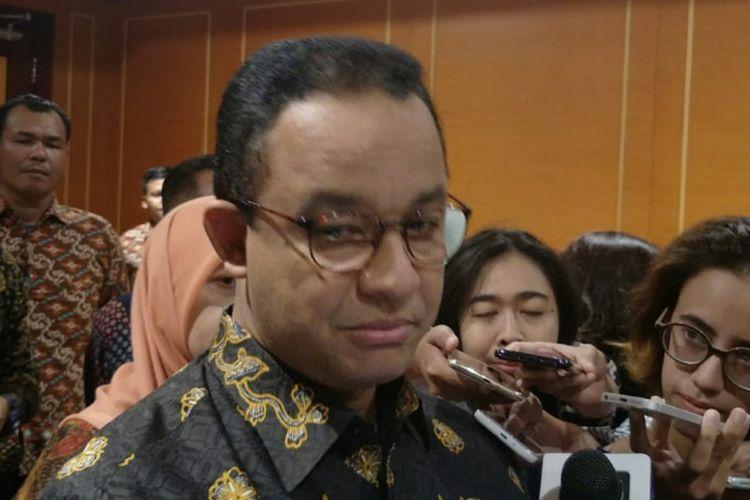 Gubernur DKI Jakarta Anies Baswedan di Hotel Borobudur, Jakarta Pusat, Kamis (6/12/2018).