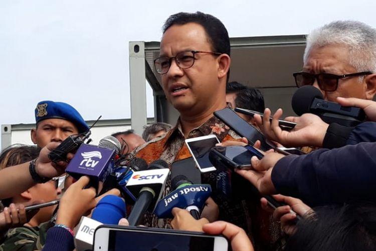Gubernur DKI Jakarta Anies Baswedan setelah meresmikan pembangunan ITF Sunter, Kamis (20/12/2018).