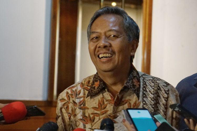 Pakar lingkungan dari Universitas Diponegoro sekaligus koordinator panelis debat kedua pilpres, Sudharto Prawoto Hadi, saat ditemui di Hotel Sari Pasific, Jakarta Pusat, Sabtu (9/2/2019).