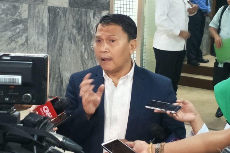 Wakil Ketua Badan Pemenangan Nasional (BPN) Mardani Ali Sera saat ditemui di Kompleks Parlemen, Senayan, Jakarta, Selasa (8/1/2019).